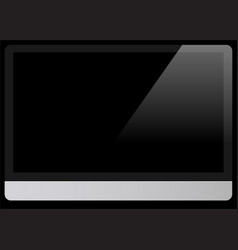 computer black screen isolated on black background vector image