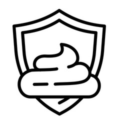 Cream shield protection icon outline style vector