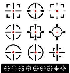 crosshairs reticle set vector image