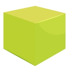 Cube icon cartoon style vector