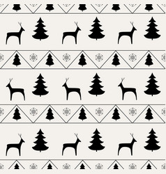 deer and tree seamless pattern fashion graphic vector image