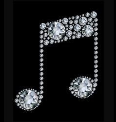 diamond music note vector image