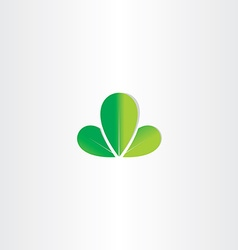 Eco green leaves symbol vector