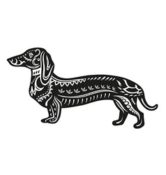 Ethnic ornamented dog vector image