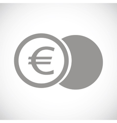 Euro coin black icon vector