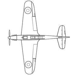 Fairey fulmar top vector