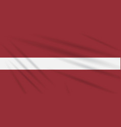 Flag latvia swaying in the wind realistic vector