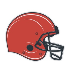 football helmet on white background vector image
