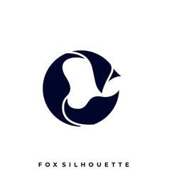fox silhouette design template vector image