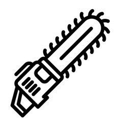 Garden chainsaw icon outline style vector