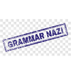 Grunge grammar nazi rectangle stamp vector