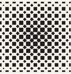 Halftone seamless geometric pattern monochrome vector