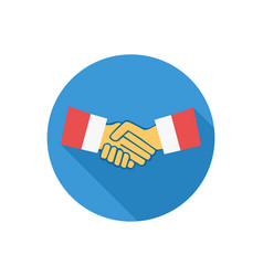 handshake icon sign symbol vector image