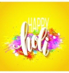 Happy Holi festival of colors greeting background vector