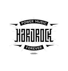 Hard rock badge - original lettering vector