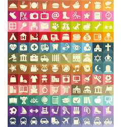 Icon set for useful places vector
