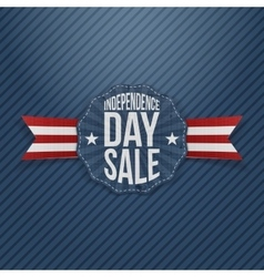 Independence Day Sale vintage Tag vector image