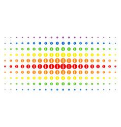 Info spectrum halftone pattern vector