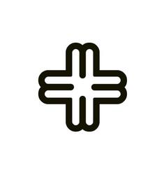 Initial letter m m3 mb bm m4 b4 4m 4b logo vector