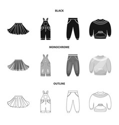 Isolated object fashion and garment sign set vector