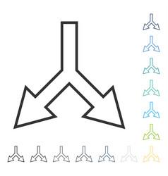 Junction arrow down icon vector