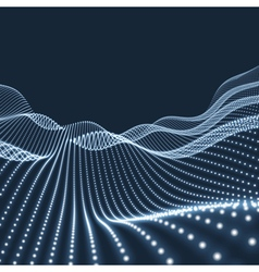 Landscape Background Terrain 3d Shiny Grid vector image