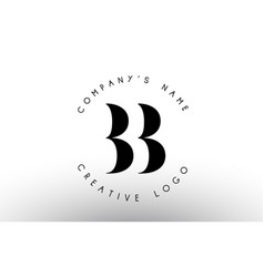 letters bb b logo with a minimalist design simple vector image