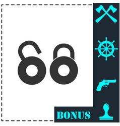 locks icon flat vector image