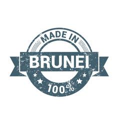made in brunei stamp design vector image