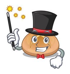 Magician hot cross buns isolated on mascot vector