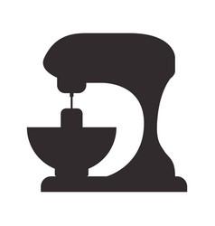 Mixer machine kitchenware vector