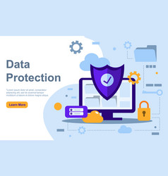 Modern flat design concept data protection for vector