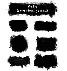 Paint Grunge Backgrounds Set vector image