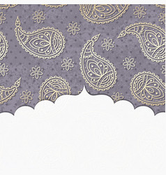 paisley textured background with a frame vector image