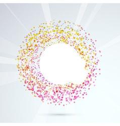 Particle bright circle design element vector image