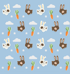 pattern rabbit vector image