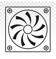 Pc fan computer fan line art icons for apps vector