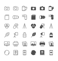 photography icons vector image