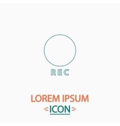 Rec computer symbol vector