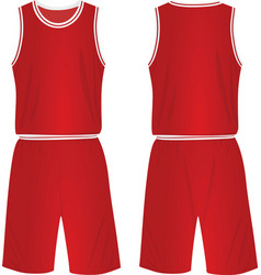 Red basketball uniform vector