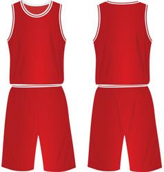 red basketball uniform vector image