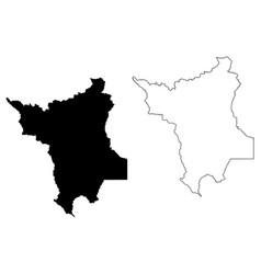 roraima map vector image