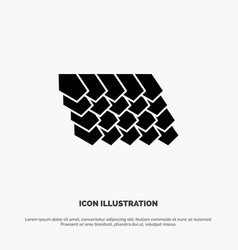 Rotile top construction solid glyph icon vector