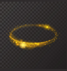 Round shiny frame background gold circle light vector