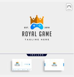 Royal game logo design template concept controller vector