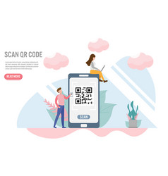 Scan qr code payment concepts with vector