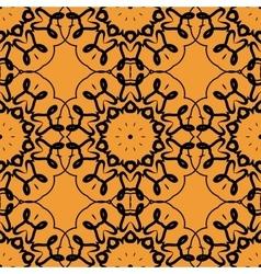 Seamless Print of stylized rounf mandala frame vector