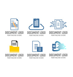 set document file logo vector image