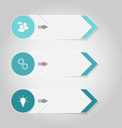 Set modern design banners with infographics vector