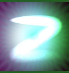 single light blue neon letter z of vector image